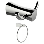 American Imaginations Double Robe Hook and Towel Ring  (AI-13275)
