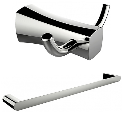 American Imaginations Single Rod Towel Rack and Double Robe Hook (AI-13281)
