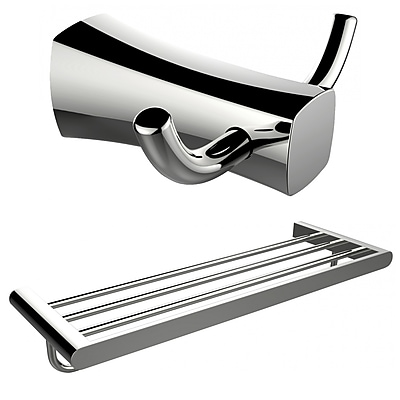 American Imaginations Double Robe Hook and Multi-Rod Towel Rack (AI-13282)