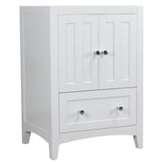 "American Imaginations 22.75""W X 18"" D Modern Plywood-Veneer Vanity Base Only in White (AI-17478)"