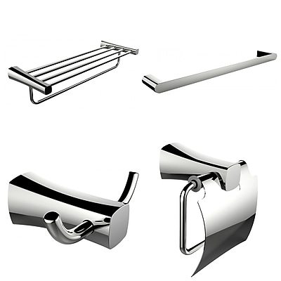 American Imaginations Single and Multi-Rod Towel Rack with Robe Hook and Toilet Paper Holder (AI-14001)