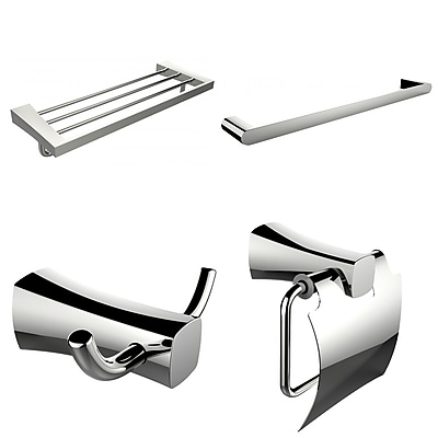 American Imaginations Single and Multi-Rod Towel Rack with Robe Hook and Toilet Paper Holder (AI-14006)