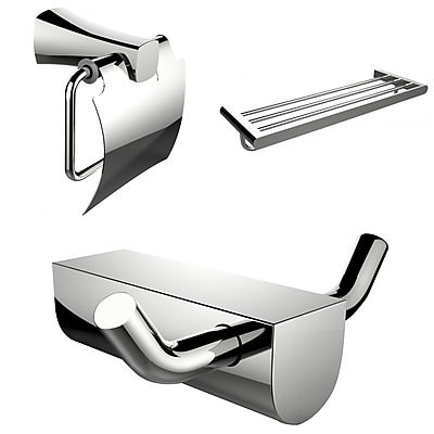 American Imaginations Modern Multi-Rod Towel Rack with Robe Hook and Toilet Paper Holder (AI-13645)