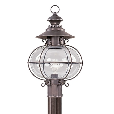 Livex Lighting 1-Light Bronze Outdoor Post Lantern (2226-07)