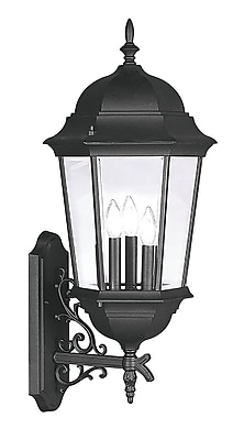 Livex Lighting 3-Light Black Outdoor Lantern (7566-04)