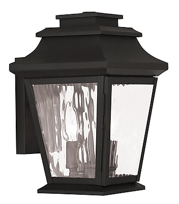 Livex Lighting 2-Light Black Outdoor Wall Lantern (20232-04)