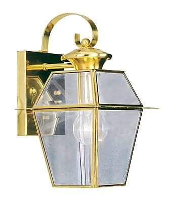 Livex Lighting 1-Light Polished Brass Outdoor Lantern (2181-02)