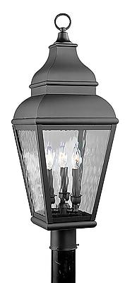 Livex Lighting 3-Light Black Outdoor Post Lantern (2606-04)