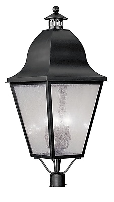 Livex Lighting 4-Light Black Outdoor Post Lantern (2554-04)
