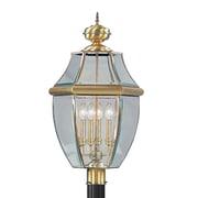 Livex Lighting 4-Light Antique Brass Outdoor Post Lantern (2358-01)