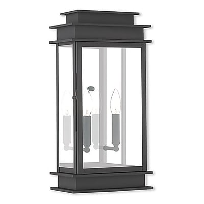 Livex Lighting 2-Light Black Outdoor Wall Mount Lantern (2018-04)