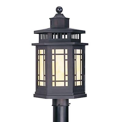 Livex Lighting 1-Light Outdoor Bronze Post Lantern (2394-07)