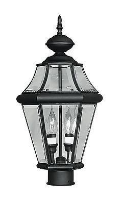 Livex Lighting 2-Light Outdoor Black Post Lantern (2264-04)