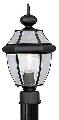 Livex Lighting 1-Light Outdoor Black Post Lantern (2153-04)