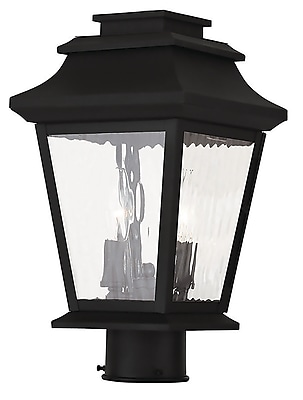Livex Lighting 2-Light Black Post Light (20234-04)