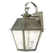 Livex Lighting 3-Light Vintage Pewter Outdoor Wall Lantern with Seeded Glass (2165-29)