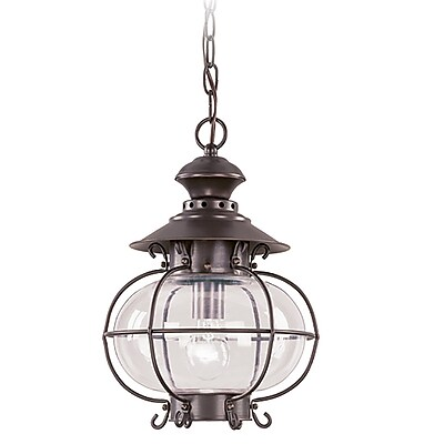 Livex Lighting 1-Light Bronze Outdoor Pendant-Light (2225-07)