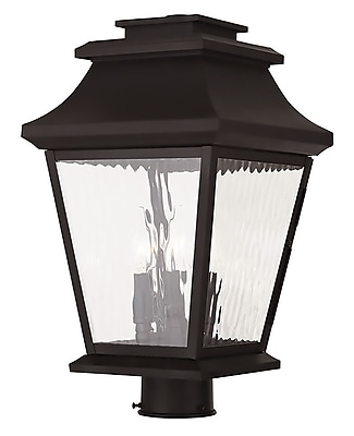 Livex Lighting 3-Light Bronze Post Light (20238-07)
