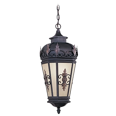 Livex Lighting 1-Light Bronze Outdoor Pendant-Light (2195-07)
