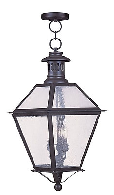 Livex Lighting 4-Light Outdoor Bronze Pendant (2049-07)
