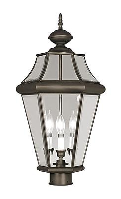 Livex Lighting 3-Light Bronze Outdoor Post Lantern (2364-07)