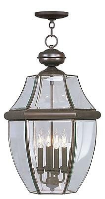Livex Lighting 4-Light Outdoor Bronze Pendant Light (2357-07)