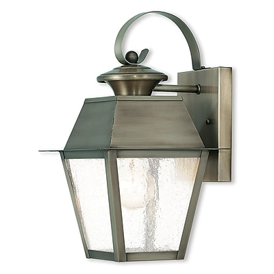 Livex Lighting 1-Light Vintage Pewter Outdoor Wall Mount Lantern (2162-29)