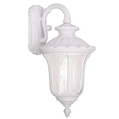 Livex Lighting 3-Light White Outdoor Wall Lantern-Light (7857-03)