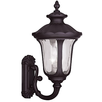 Livex Lighting 3-Light Bronze Outdoor Wall Lantern-Light (7856-07)