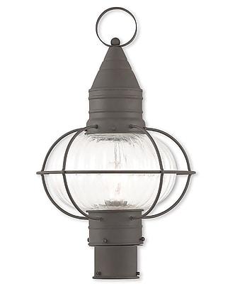 Livex Lighting 1-Light Outdoor Bronze Post Light (27005-07)