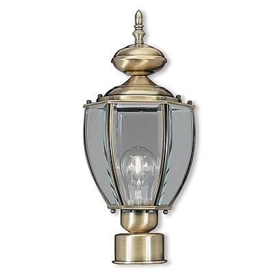 Livex Lighting 1-Light Outdoor Antique Brass Post Light (2009-01)