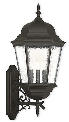 Livex Lighting 3-Light Textured Black Outdoor Wall Lantern (75472-14)