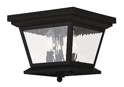 Livex Lighting 3-Light Black Outdoor Flush Mount (20239-04)