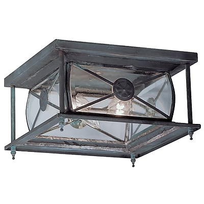 Livex Lighting 2-Light Charcoal Outdoor Flush Mount (2090-61)