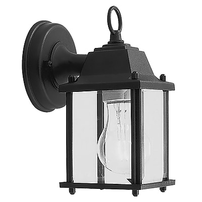 Livex Lighting 1-Light Wall Black Outdoor Wall Lantern (7506-04)