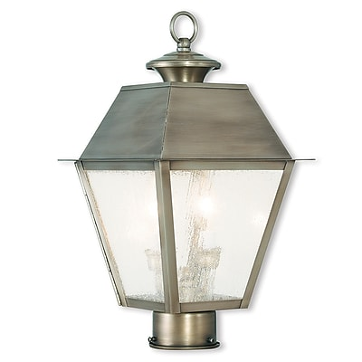 Livex Lighting 2-Light Outdoor Vintage Pewter Post Light (2166-29)