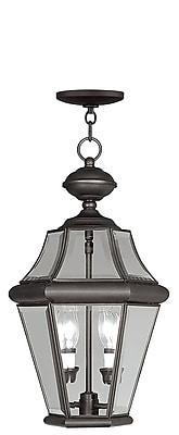 Livex Lighting 2-Light Outdoor Bronze Pendant-Light (2265-07)