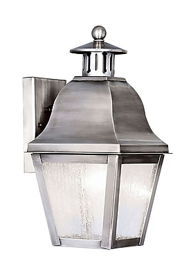 Livex Lighting 1-Light Wall Vintage Pewter Outdoor Wall Lantern (2550-29)
