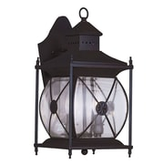 Livex Lighting 2-Light 16 in. Bronze Finish Clear Beveled Glass Outdoor Wall Lantern (2092-07)