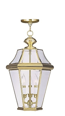 Livex Lighting 3-Light Polished Brass Outdoor Hanging Pendant (2365-02)
