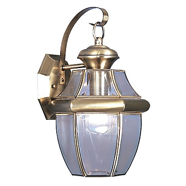 Livex Lighting 1-Light Antique Outdoor Brass Wall Lantern (2151-01)