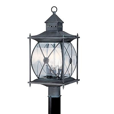 Livex Lighting 3-Light Outdoor Grey Post Lantern (2096-61)