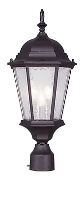 Livex Lighting 3-Light Outdoor Bronze Post Head Light (7563-07)