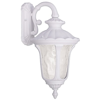 Livex Lighting 1-Light White Outdoor Wall Lantern-Light (7853-03)