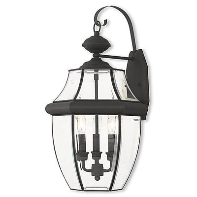 Livex Lighting 3-Light Black Outdoor Wall Mount Lantern (20286-04)