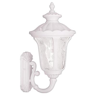 Livex Lighting 1-Light White Outdoor Wall Lantern-Light (7852-03)
