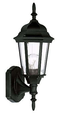 Livex Lighting 1-Light Wall Black Outdoor Wall Lantern (7551-04)