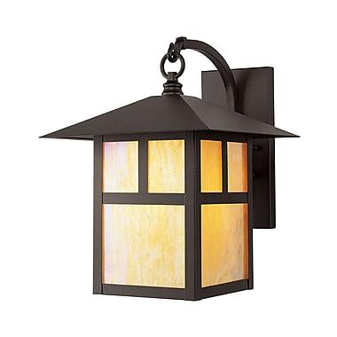 Livex Lighting 1-Light Bronze Iridescent Outdoor Tiffany Glass Wall Lantern (2133-07)