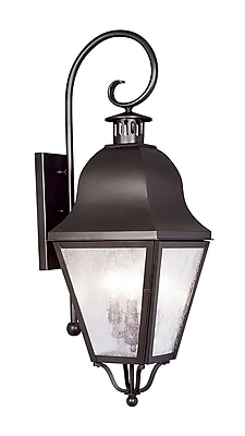 Livex Lighting 3-Light Wall Bronze Outdoor Wall Lantern (2555-07)