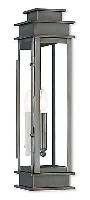 Livex Lighting 1-Light Vintage Pewter Outdoor Wall Mount Lantern (20207-29)